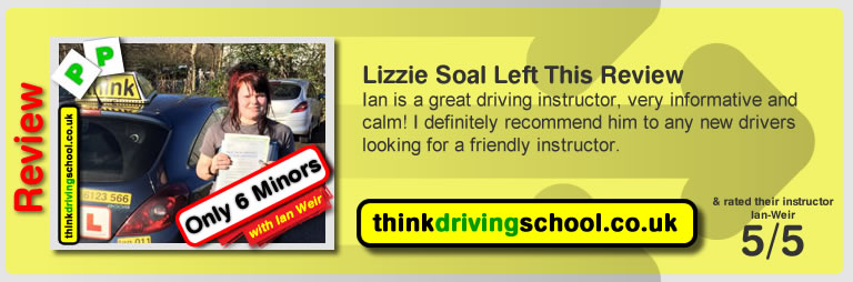 Fleur Benton passed with driving instructor ian weir and lef this awesome review of think driving school