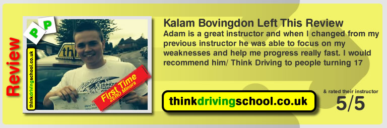 Kalam Bovingdon Left This Review of Aaron passed and left this review