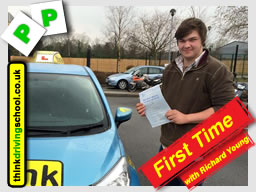 Joshua Elser passed with richard young from Farnham driving school